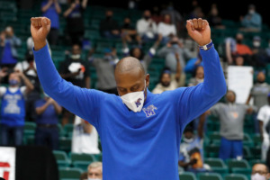 <strong>In March of 2021 University of Memphis Tigers Coach Penny Hardaway celebrated winning the NIT tournament title. Hardaway, 50, is now looking to bring home the NCAA title for his hometown school.&nbsp;</strong> (courtesy NCAA)