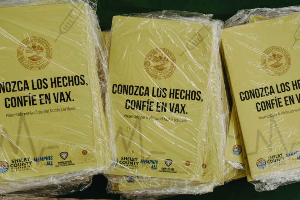 <strong>Vaccine information translated into Spanish was distributed in the Berclair Neighborhood.</strong> (Lucy Garrett/Special to The Daily Memphian)