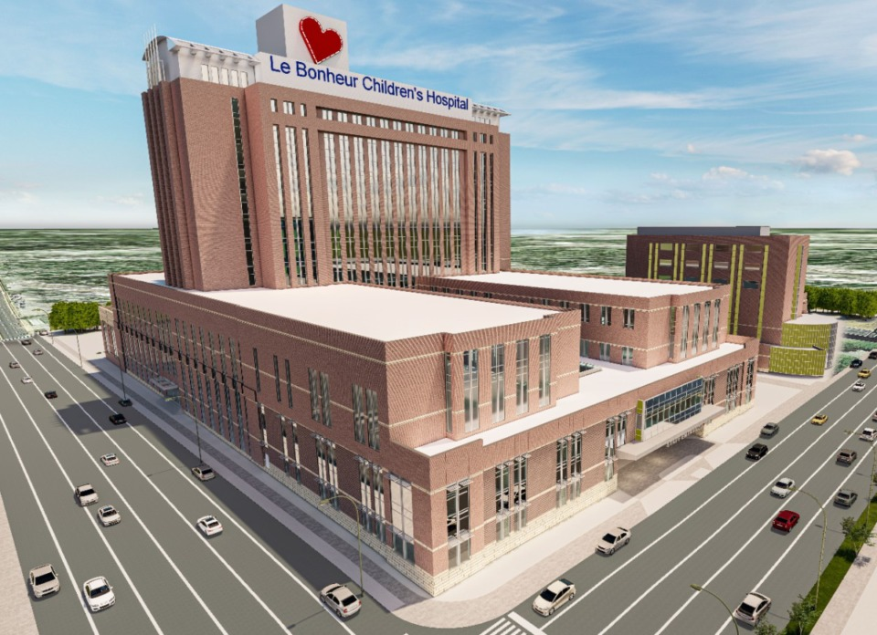 <strong>The expansion will bring the hospital to the sidewalk on the Dunlap Street side, between Washington and Poplar avenues. The construction timeline has not been announced.</strong> (Submitted photo)