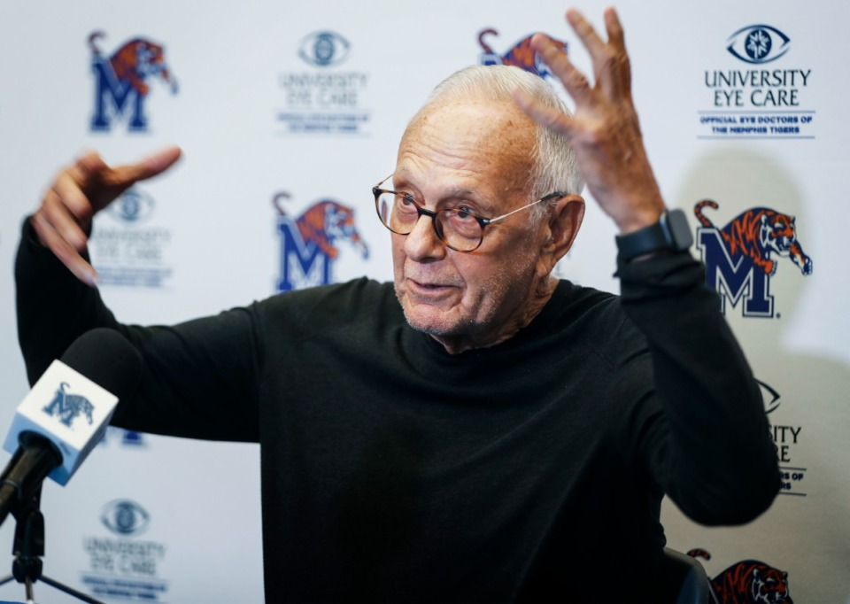 <strong>New University of Memphis assistant basketball coach Larry Brown, seen here on July 12, signed a one-year deal with Memphis on July 7, which will run until April 30, 2022.</strong> (Mark Weber/The Daily Memphian file)
