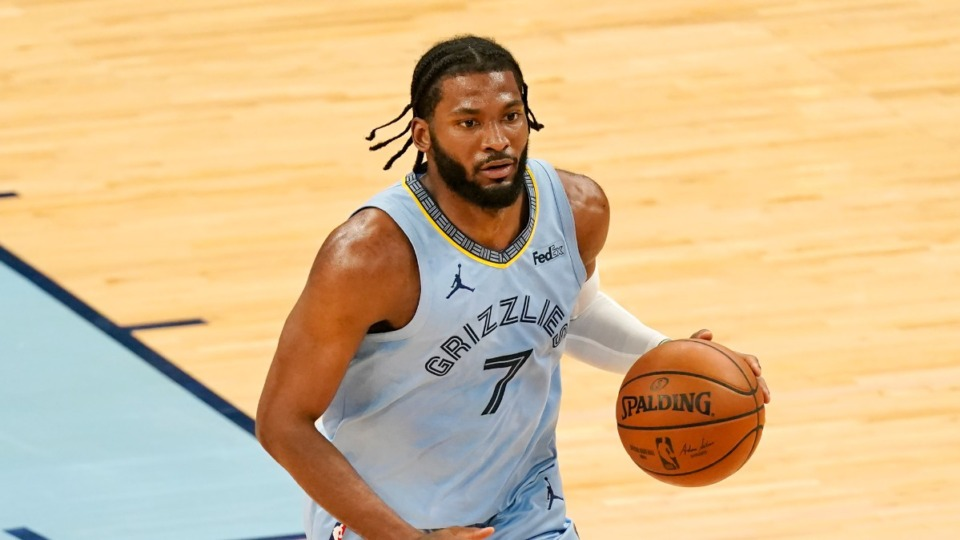 <strong>The Grizzlies will need to make a decision about Justise Winslow, seen here in April, on whom they hold a team option next season for $13 million.</strong>&nbsp;(Mark Humphrey/AP)