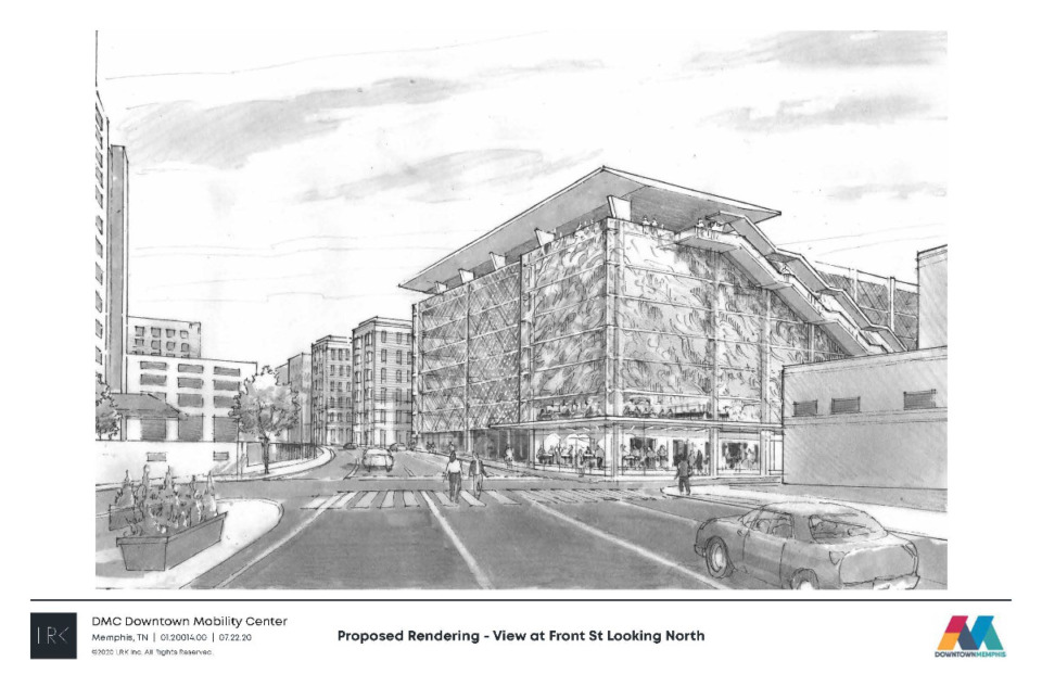 <strong>The Memphis City Council approved a special-use permit for the garage and &ldquo;mobility center&rdquo; Downtown. </strong>(Daily Memphian file)