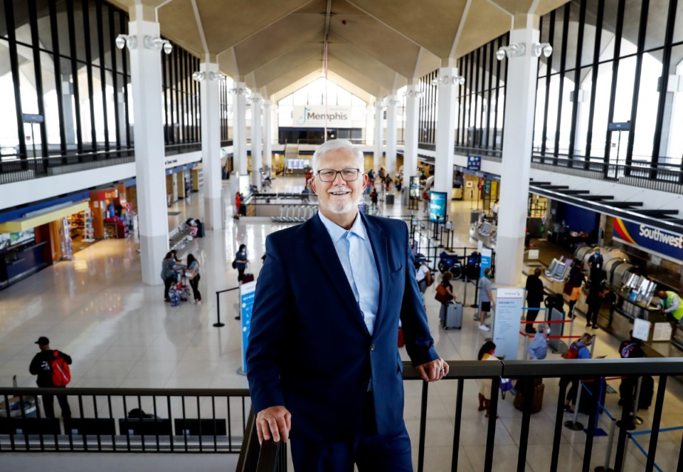 <strong>Scott Brockman, president and CEO of the Memphis-Shelby County Airport Authority, on Thursday, July 15, 2021.</strong> (Mark Weber/The Daily Memphian)