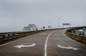 <strong>The Hernando DeSoto Bridge stands empty on Monday, May 17.</strong> (Mark Weber/The Daily Memphian file)