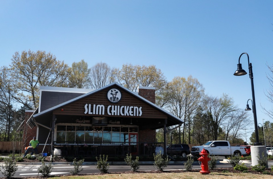 <strong>Slim Chickens has three area locations, including this one on Poplar Avenue in Collierville.</strong> (Mark Weber/The Daily Memphian file)