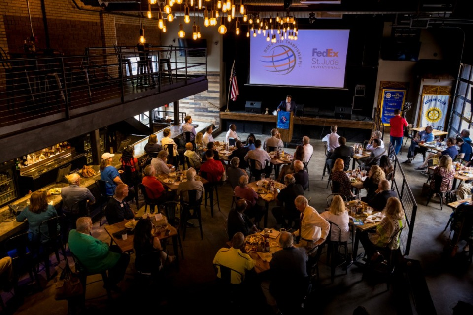 <strong>Rotary Club of Memphis holds a meeting at Bluff Restaurant on July 27, 2021.</strong> (Ziggy Mack/Special to The Daily Memphian)