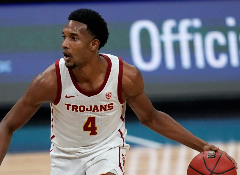 <strong>The Grizzlies are among many NBA teams rumored to be interested in trading up for a chance at USC forward Evan Mobley. </strong>&nbsp;(AP Photo/John Locher, File)