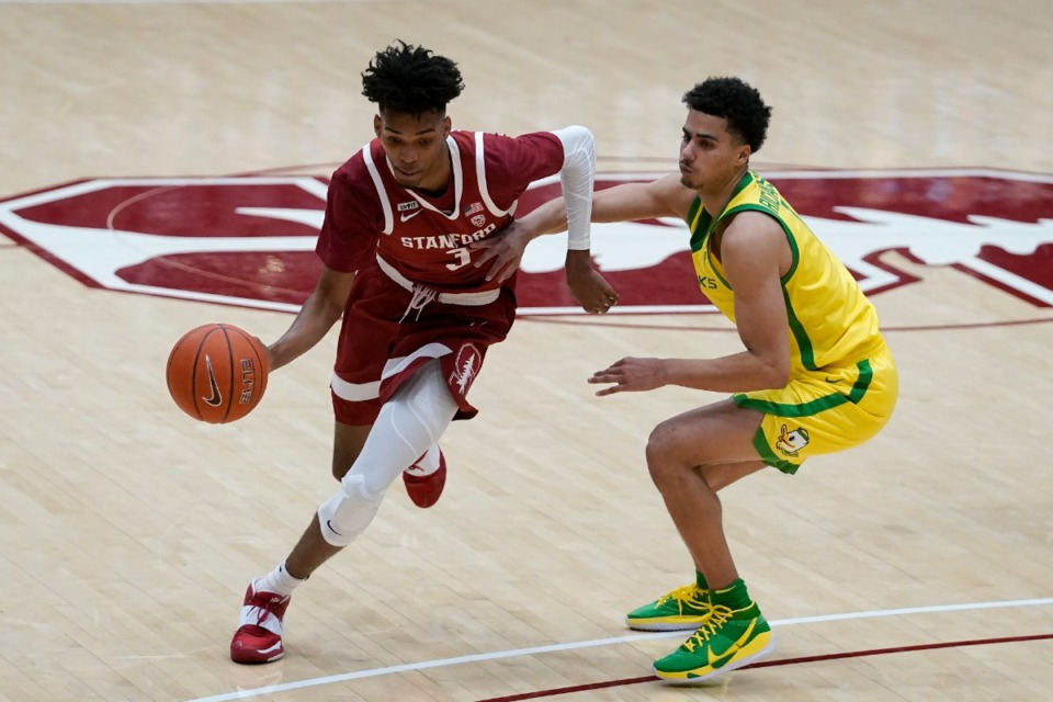 <strong>The Memphis Grizzlies get Stanford forward Ziaire Williams (3), seen here&nbsp; in February, with the 10th pick in the NBA draft.</strong> (Jeff Chiu/AP file)