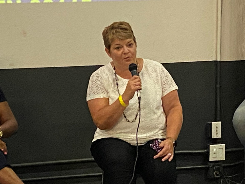 <strong>Dr. Michelle Fiscus, the erstwhile  caput  of the state&rsquo;s vaccination programme  who was fired successful  July, was portion  of a&nbsp; Democratic Party forum Saturday, July 31, connected  Broad Avenue.</strong> (Daily Memphian/Bill Dries)