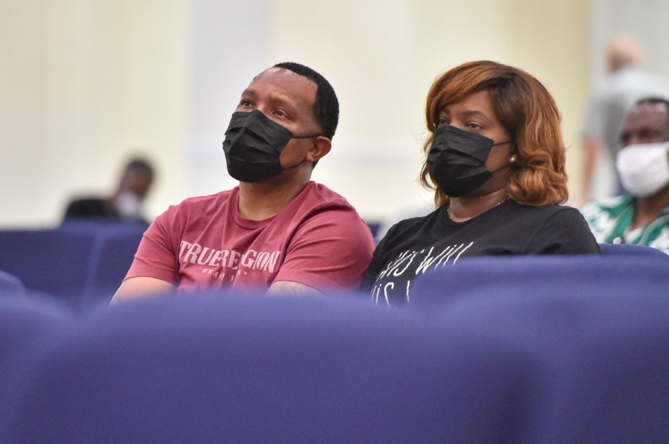 <strong>Sam Bachelor (left) and Taylor Bachelor perceive  to speakers during the People&rsquo;s Summit connected  Saturday, July 31, 2021 astatine  Abundant Grace Fellowship Church successful  Whitehaven.</strong> (Justin Ford/Special to The Daily Memphian)