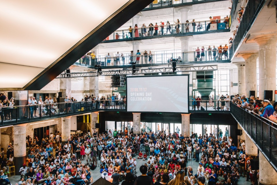 <strong>Thousands gathered at Crosstown Concourse for its grand opening in 2017.</strong> (Houston Cofield/Daily Memphian file)