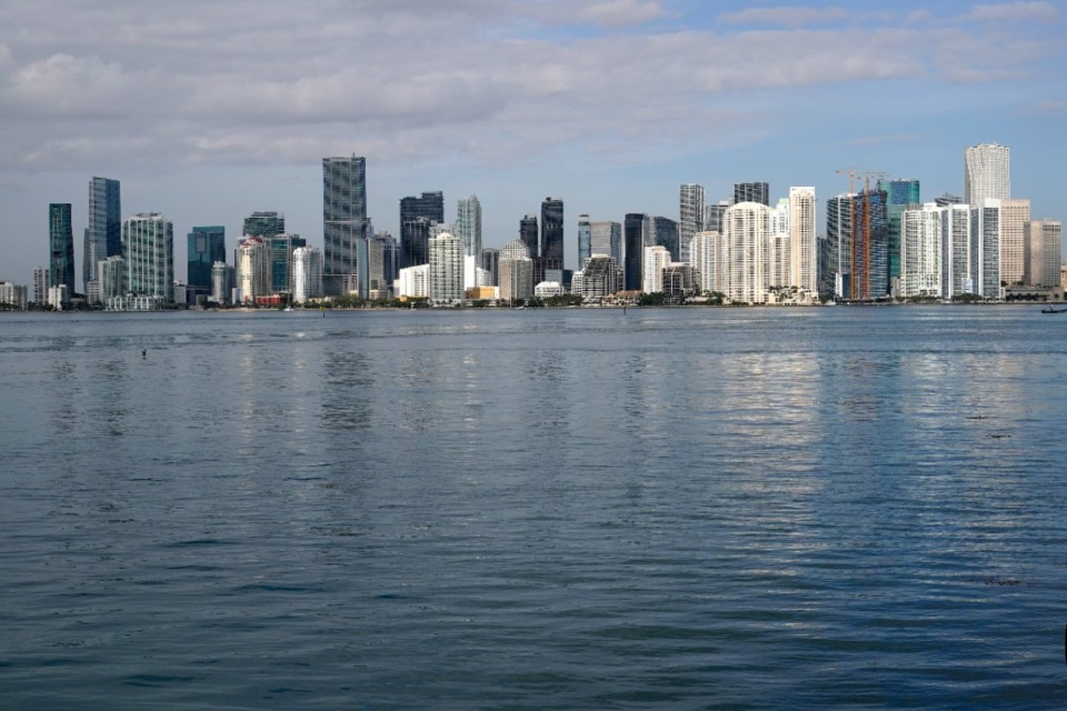 <strong>The skyline of downtown Miami is seen April 6, 2021. The metropolis  volition  articulation  Denver, Las Vegas and Orlando, Florida, arsenic  Frontier destinations flying retired  of Memphis International Airport.</strong> (AP Photo/Lynne Sladky)