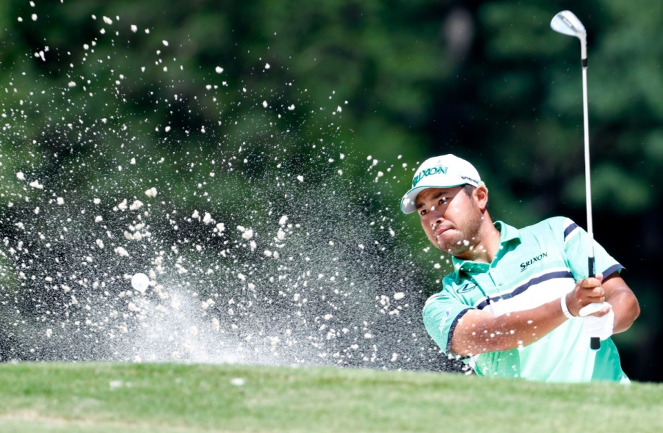 <strong>Hideki Matsuyama, seen here at the WGC-FedEx St. Jude Invitational in 2019, will tee off at 9:37 a.m. Friday with Collin Morikawa and tournament leader Harris English.</strong> (Houston Cofield/Daily Memphian file)