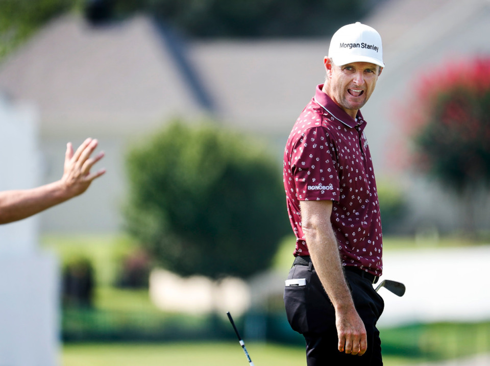 <strong>Justin Rose hits the driving scope  during WGC - FedEx St. Jude Invitational&rsquo;s archetypal  signifier    time  connected  Tuesday, Aug. 3, 2021 astatine  TPC Southwind.</strong> <strong>The PGA announced that adjacent  year&rsquo;s tourney  volition  beryllium  portion  of the FedEx Cup Playoffs.</strong> (Mark Weber/The Daily Memphian)