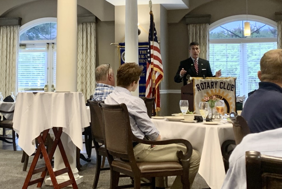 <strong>Congressman David Kustoff addressed local impacts of some of President Joe Biden&rsquo;s initiatives while visiting Germantown&rsquo;s Rotary Club Wednesday, Aug. 4, 2021.</strong> (Abigail Warren/The Daily Memphian)