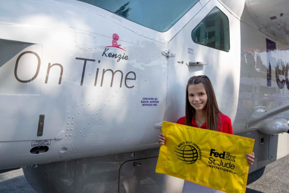 <strong>FedEx named a Cessna airplane in honor of St. Jude Children&rsquo;s Research Hospital patient Kenzie on Thursday, Aug. 5, as part of the WGC-FedEx St. Jude Invitational.</strong> (Courtesy of St. Jude/ALSAC)