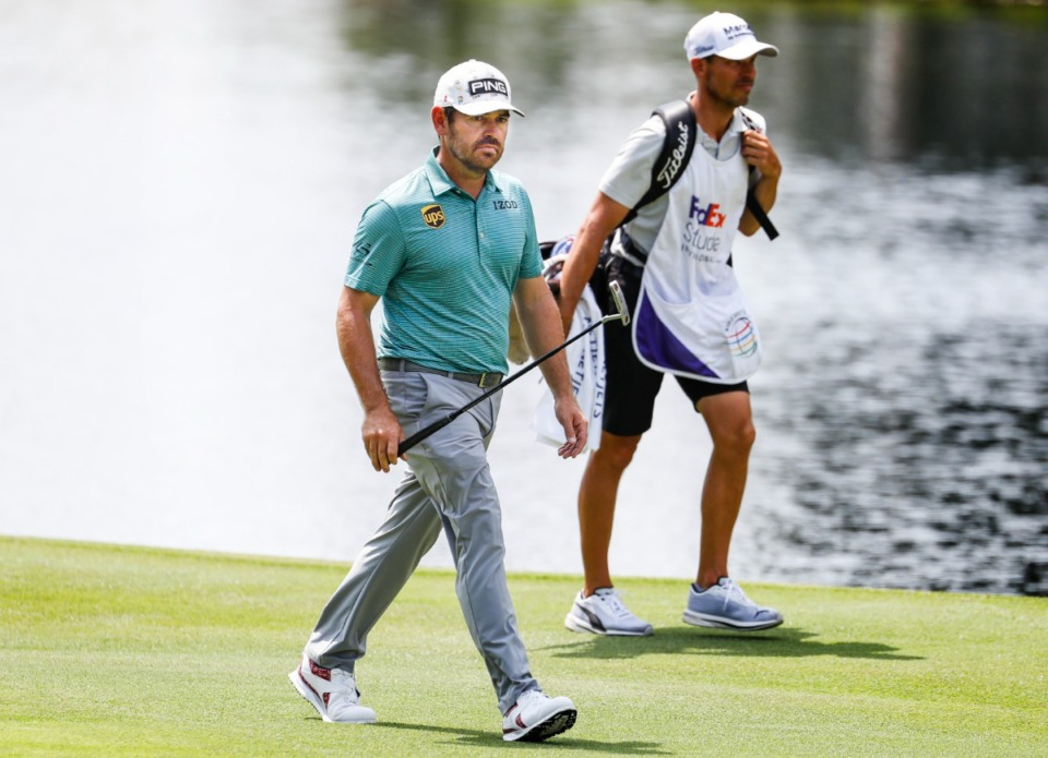 <strong>PGA golfer Louis Oosthuizen walks up the 18th fairway&nbsp;during the first round of the WGC-FedEx St. Jude Invitational on Thursday, Aug. 5, 2021, at TPC Southwind.</strong> (Mark Weber/The Daily Memphian)