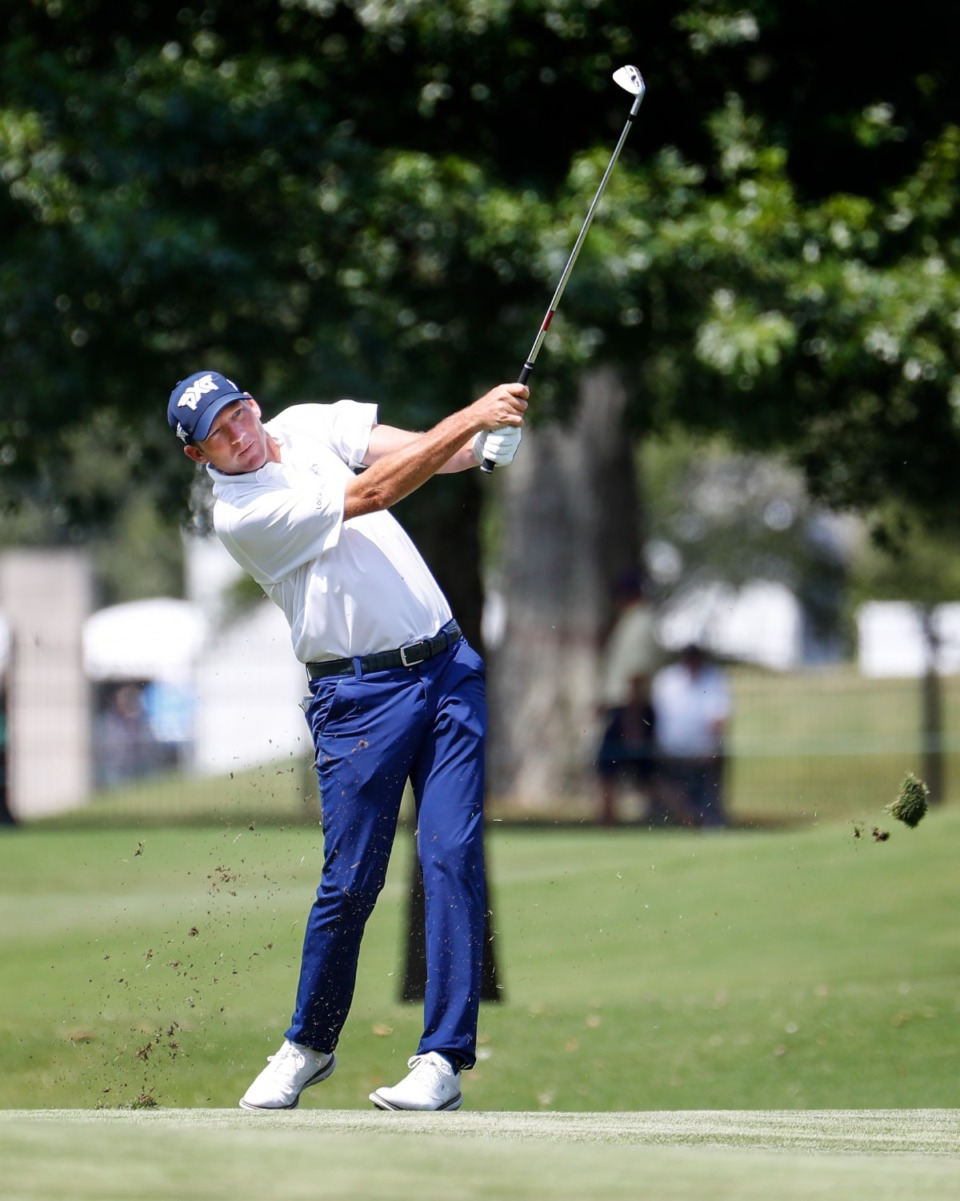 <strong>PGA golfer Jim Herman hits a fairway shot&nbsp;during the first round of the WGC-FedEx St. Jude Invitational on Thursday, Aug. 5, 2021, at TPC Southwind.</strong> (Mark Weber/The Daily Memphian)