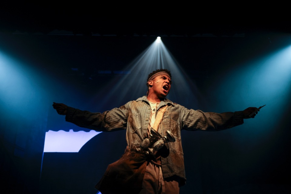 <strong>Marvin Holt performs in the Les Mis&eacute;rables School Edition dress rehearsal by New Day Theatre at The Harrell Theatre. This is New Day Theatre&rsquo;s first post-COVID show.</strong> (Brad Vest/ Special to The Daily Memphian)