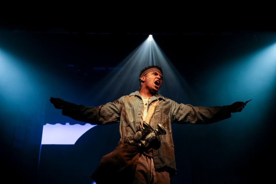 <strong>Marvin Holt performs in the Les Mis&eacute;rables School Edition dress rehearsal by New Day Theatre at The Harrell Theatre. This is New Day Theatre&rsquo;s first post-COVID show.</strong> (Brad Vest/Special to The Daily Memphian)
