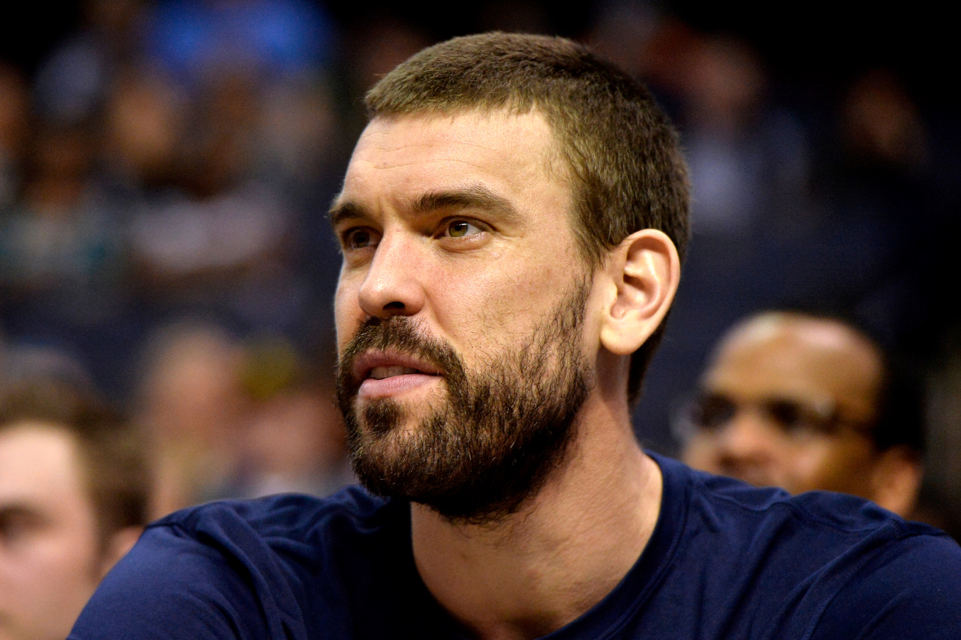 <span><strong>Memphis Grizzlies center Marc Gasol looks on from the bench in the first half of an NBA basketball game against the Minnesota Timberwolves on Tuesday, Feb. 5, in Memphis.</strong> (Brandon Dill/Associated Press)</span>