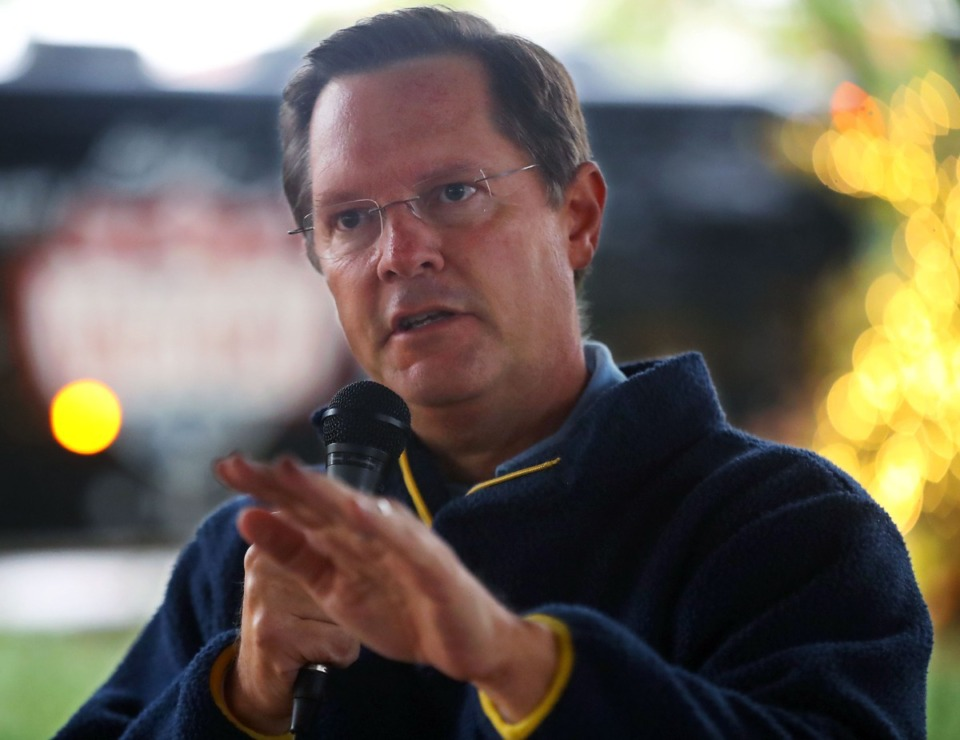 <strong>Tennessee House of Representatives Speaker of the House Cameron Sexton speaks during a campaign rally in Collierville Oct. 28, 2020.</strong> (Patrick Lantrip/Daily Memphian file)