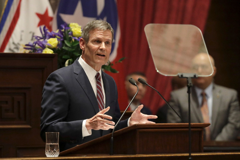 <strong>Tennessee Gov. Bill Lee (in a file photo) signed a new law July 1 that will regulate discussion of race in classrooms.</strong> (Mark Humphrey/AP)