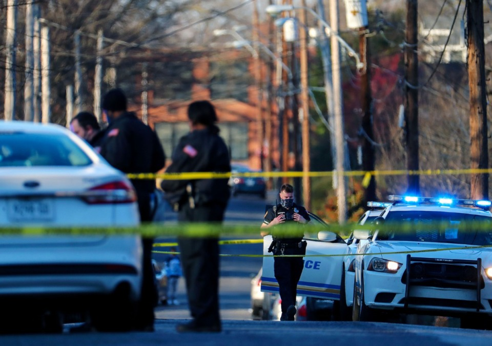 <strong>Memphis Police Officers respond to a homicide in North Memphis Feb. 3, 2021.</strong> (Daily Memphian/file)