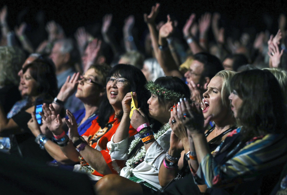 <strong>The audience anxiously awaits the beginning of the 2021 Ultimate Elvis Tribute Artist Contest at Graceland Aug. 12, 2021.</strong> (Patrick Lantrip/Daily Memphian)
