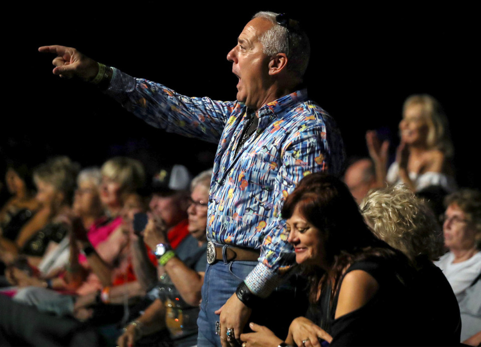 <strong>The audience went wild for Alex Mitchell during the 2021 Ultimate Elvis Tribute Artist Contest at Graceland Aug. 12, 2021.</strong> (Patrick Lantrip/Daily Memphian)