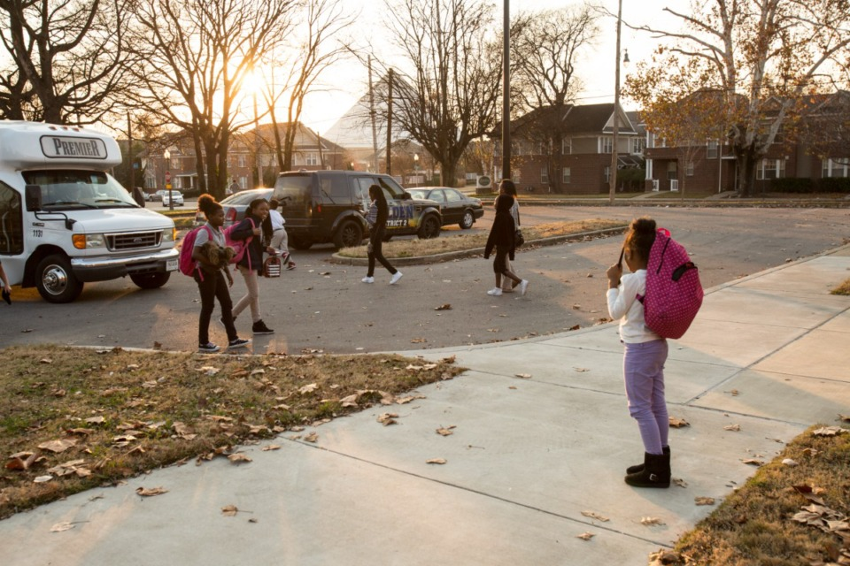 <strong>Six-year-old Reign Moore waits for her friends at Greenlaw Community Center in Uptown in 2015.</strong> (Daily Memphian file)