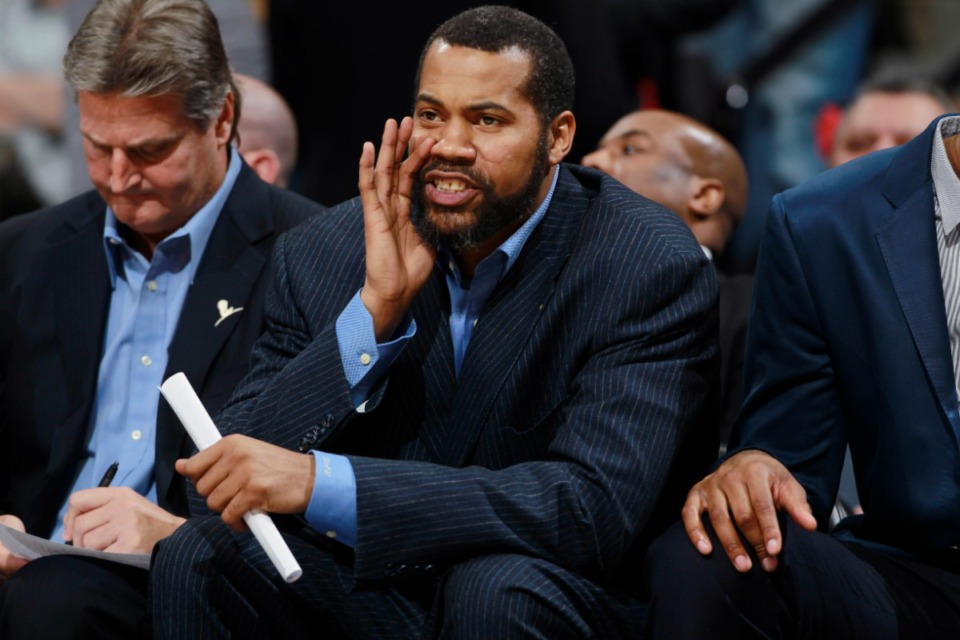 <strong>Rasheed Wallace, seen here as an assistant coach with the Detroit Pistons in 2014, is the newest assistant coach at the University of Memphis.</strong> (AP file)