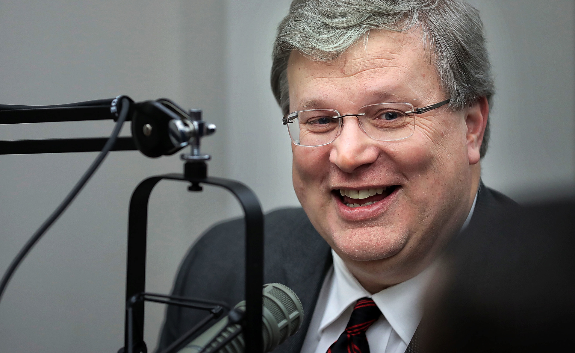 <strong>Memphis Mayor Jim Strickland talks about Electrolux and his reelection campaign during The Daily Memphian Politics Podcast on Feb. 7, 2019.</strong> (Jim Weber/Daily Memphian)