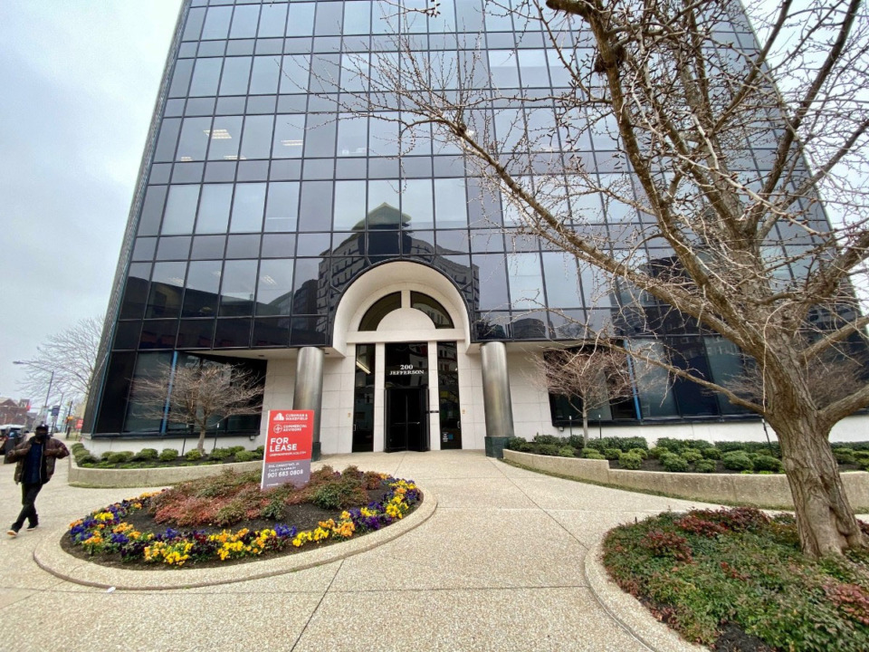 <strong>Calidus Holdings LLC announced Tuesday, Aug. 24, it purchased One Memphis Place, seen here in 2020, for $15.2 million.</strong> (Tom Bailey/Daily Memphian file)