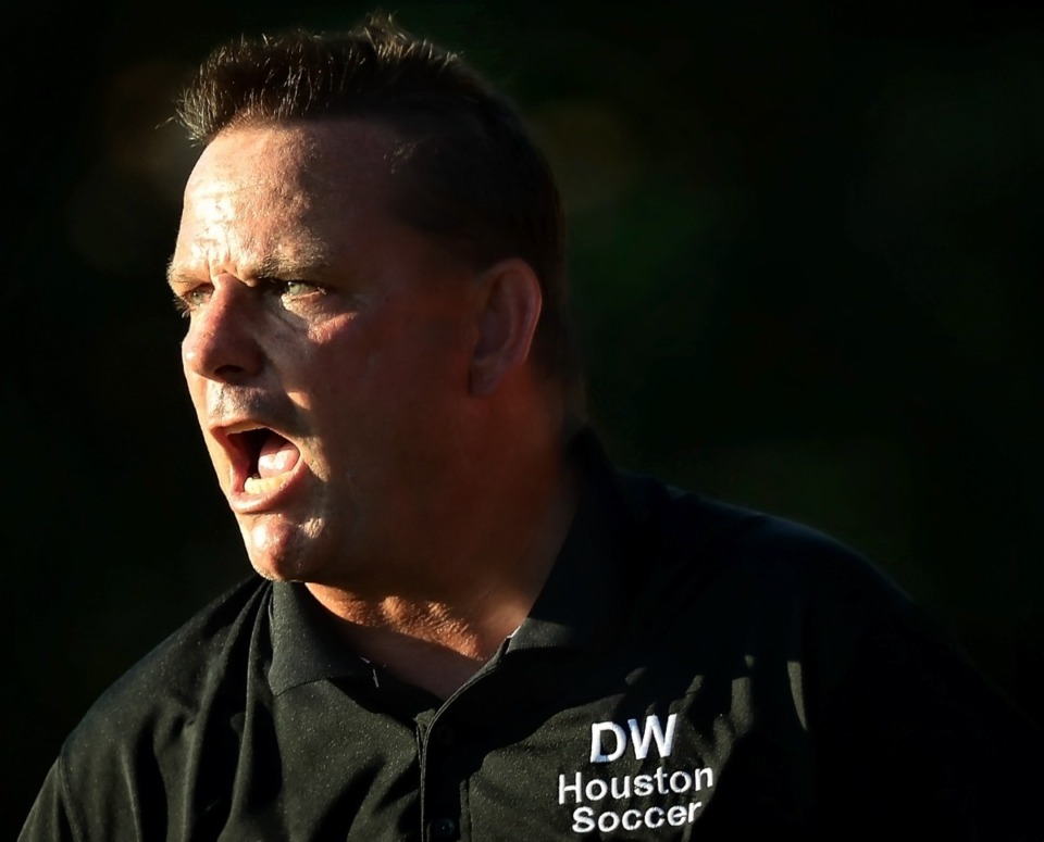 <strong>Mustangs Coach David Wolff, seen here in 2018, led Houston to a 6-1 victory.</strong> (Daily Memphian file)