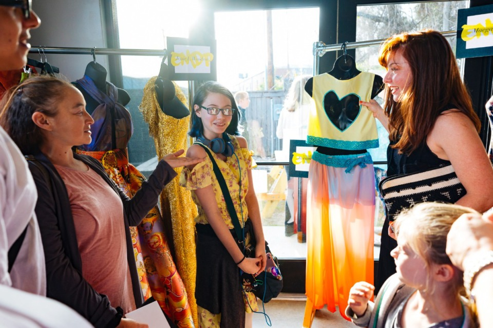 <strong>Overton High School teacher Jeannine LaBate spoke about student Breanna Mansel's teen category emerging designer submission during the 2019 Memphis Fashion Week.</strong> (Daily Memphian file)