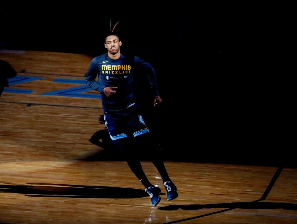 <strong>Memphis Grizzlies guard Ja Morant is asking fans to help him decide what color to dye the two front twists in his hair.</strong> (Mark Weber/Daily Memphian file)
