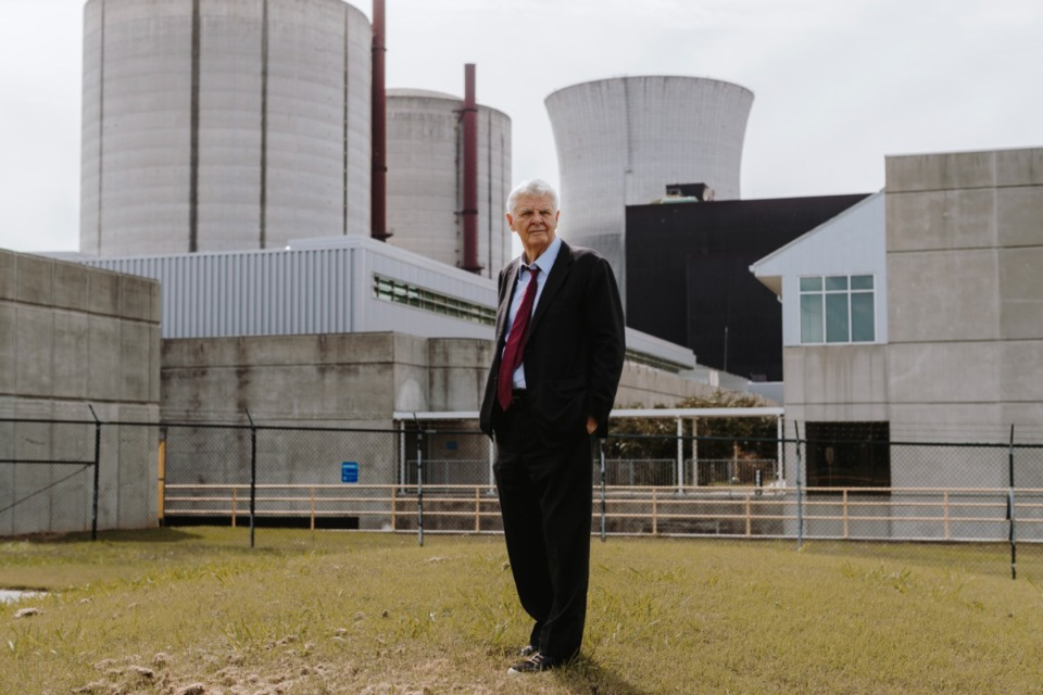 <strong>Chattanooga developer Franklin L. Haney Sr. stands in front of the Bellefonte Nuclear Plant in Hollywood, Ala.</strong>&nbsp;(Houston Cofield/Daily Memphian file)