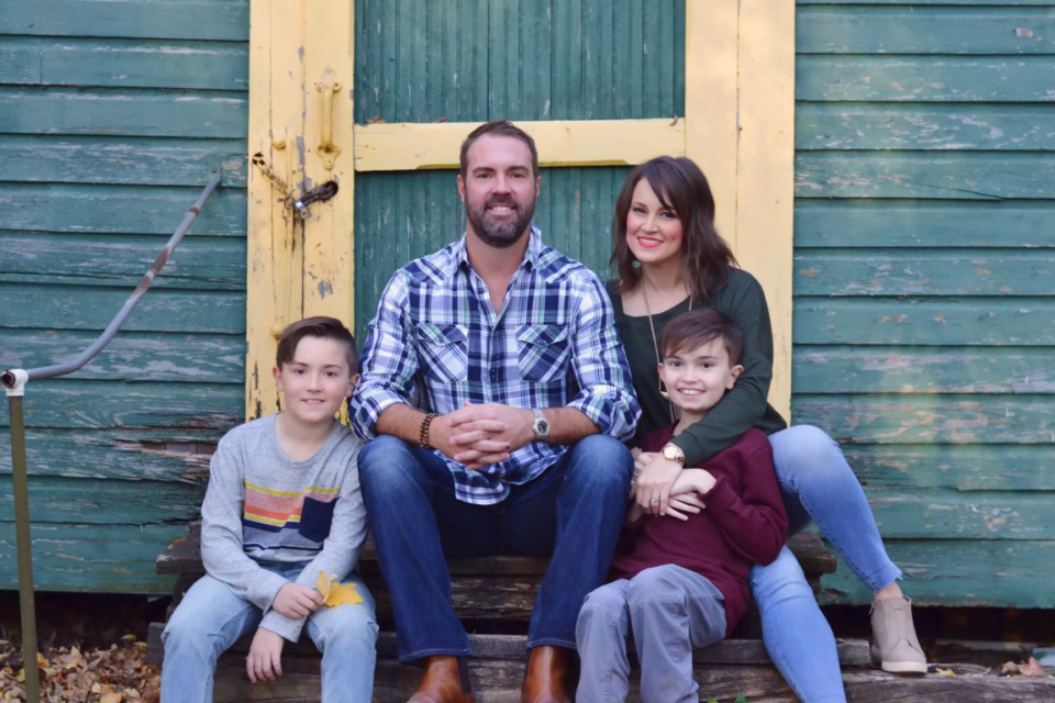 """<strong>Brittany Schwaigert and her husband Ryan are lead plaintiffs in a new lawsuit, filed Friday in the United States District Court for the Western District of Tennessee, against Gov. Bill Lee over&nbsp;<a href=""""https://www.tn.gov/content/dam/tn/governorsoffice-documents/governorlee-documents/EO84.pdf"""" target=""""_blank"""" rel=""""noopener"""">Executive Order No. 84</a>, which gives students and parents the right to opt out of mask mandates. (From left to right: Lachlan, Ryan,&nbsp;Brittany, Greyson)</strong>. (Submitted.)"""