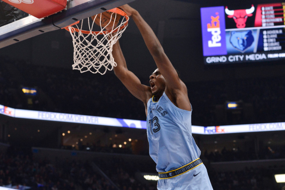 <strong>Will Memphis Grizzlies forward Jaren Jackson Jr. play more center this season? Will Jackson Jr. be part of a three-team trade to bring in Ben Simmons?</strong> (AP Photo/Brandon Dill)