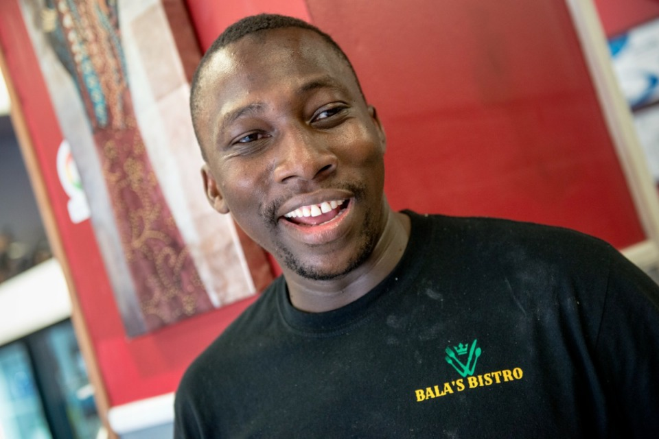 <strong>Bala Tounkara opened Bala&rsquo;s Bistro on Raines Road in 2019. This fall, the restaurant will relocate to a bigger space a few miles away, on Elvis Presley Boulevard.</strong> (Brandon Dill/Special To The Daily Memphian)