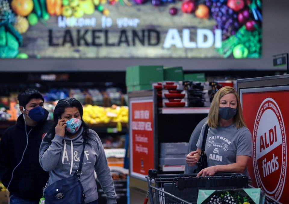 <strong>Shoppers took to the aisles at the new Lakeland Aldi when it opened on March 11. Word around town&nbsp;is that a new grocery store is moving into the area. The grocery chain is still unknown.</strong> (Patrick Lantrip/Daily Memphian file)