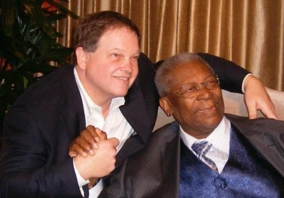 <strong>Tommy Peters (left) with B.B. King. Peters, 66, died Sept. 5 in Orlando, Florida.</strong> (Photo courtesy of the Peters family)&nbsp;