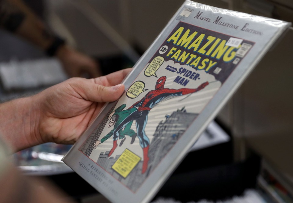 <strong>A classic Spiderman comic is part of the merchandise at 901 Comics&rsquo; new location in Cordova.</strong> (Patrick Lantrip/Daily Memphian)