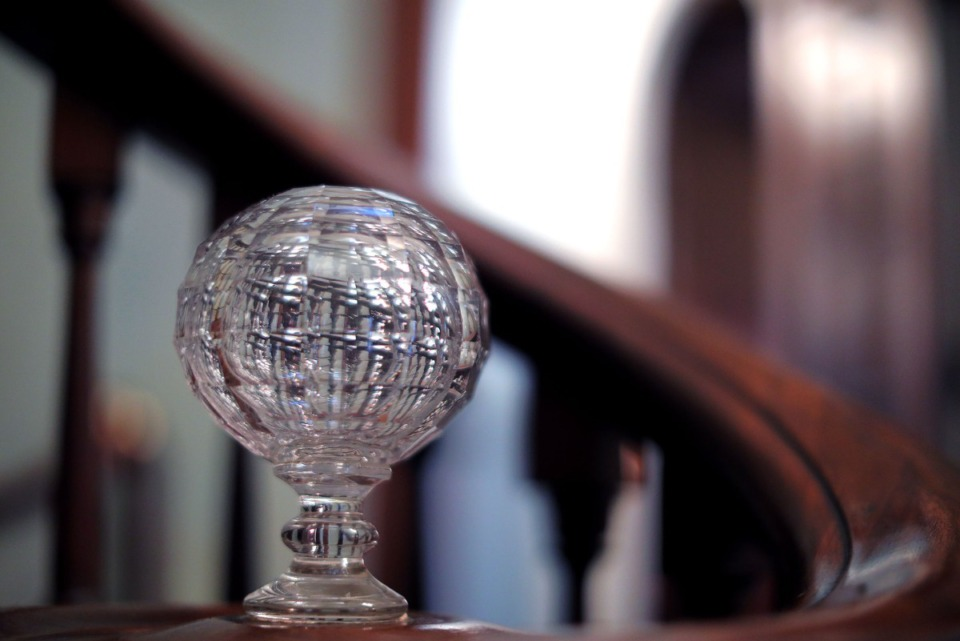 <strong>An ornate crystal ball adorns the staircase at the Annesdale mansion at 1325 Lamar Ave.</strong>&nbsp;(Patrick Lantrip/Daily Memphian file)