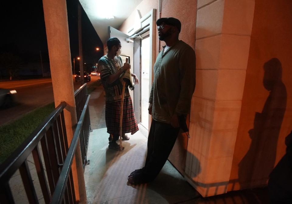 <strong>Midtown Mosque member&nbsp;</strong><strong>Salahudeen Abdul-Malik&nbsp;</strong><strong>(left) and Malik Shaw attend evening prayer on Sept. 3.</strong> (Karen Pulfer Focht/Special to the Daily Memphian)