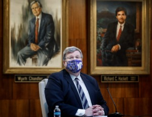 <strong>Memphis Mayor Jim Strickland said that despite being vaccinated he has tested positive for the COVID-19 virus.</strong> (Mark Weber/Daily Memphian file)
