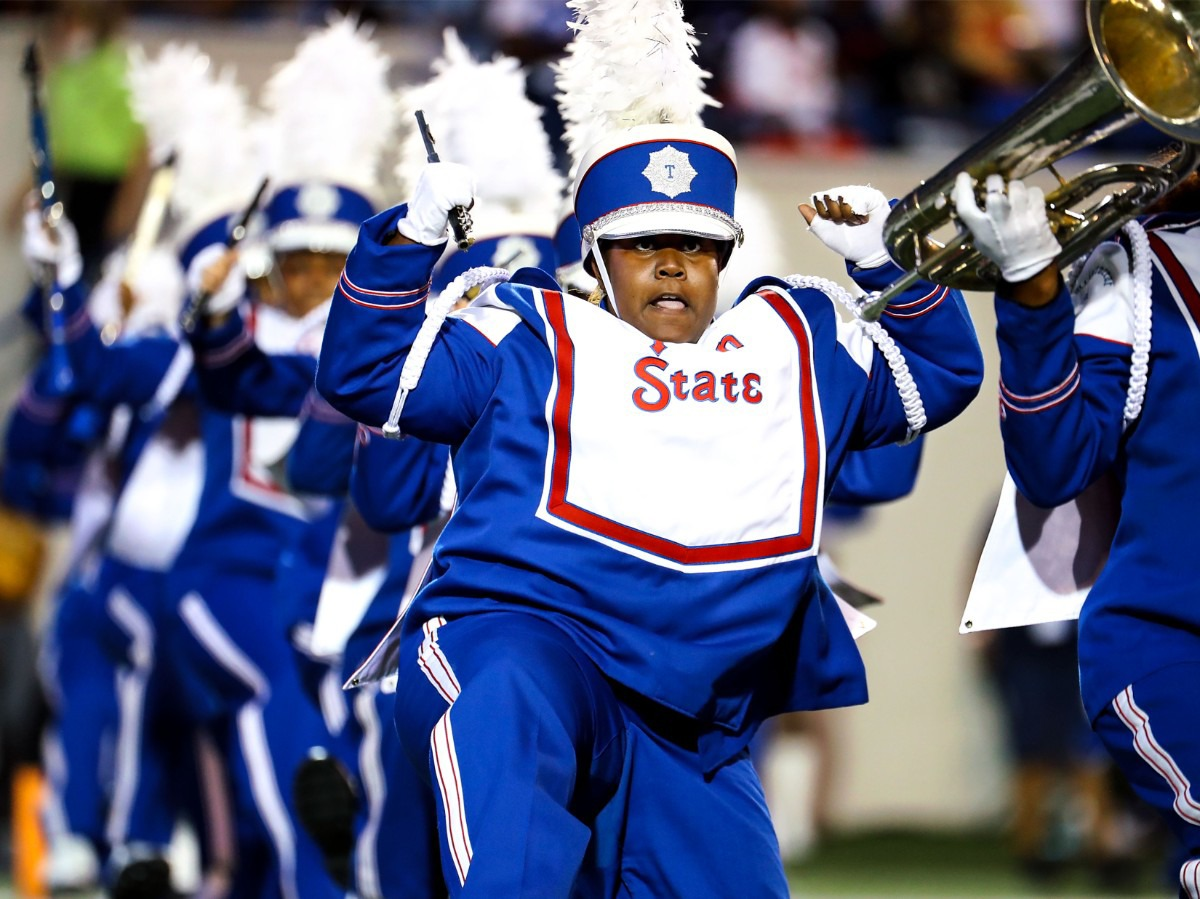 <strong>Members of the Tennessee State band perform at the halftime at Liberty Bowl Memorial Stadium. </strong>(Patrick Lantrip/Daily Memphian)