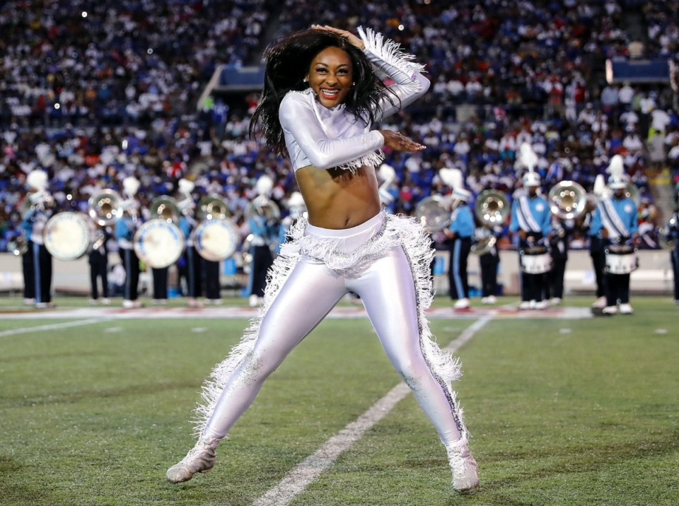 <strong>Jackson State dancers perform at the halftime during the Southern Heritage Classic.</strong> (Patrick Lantrip/Daily Memphian)