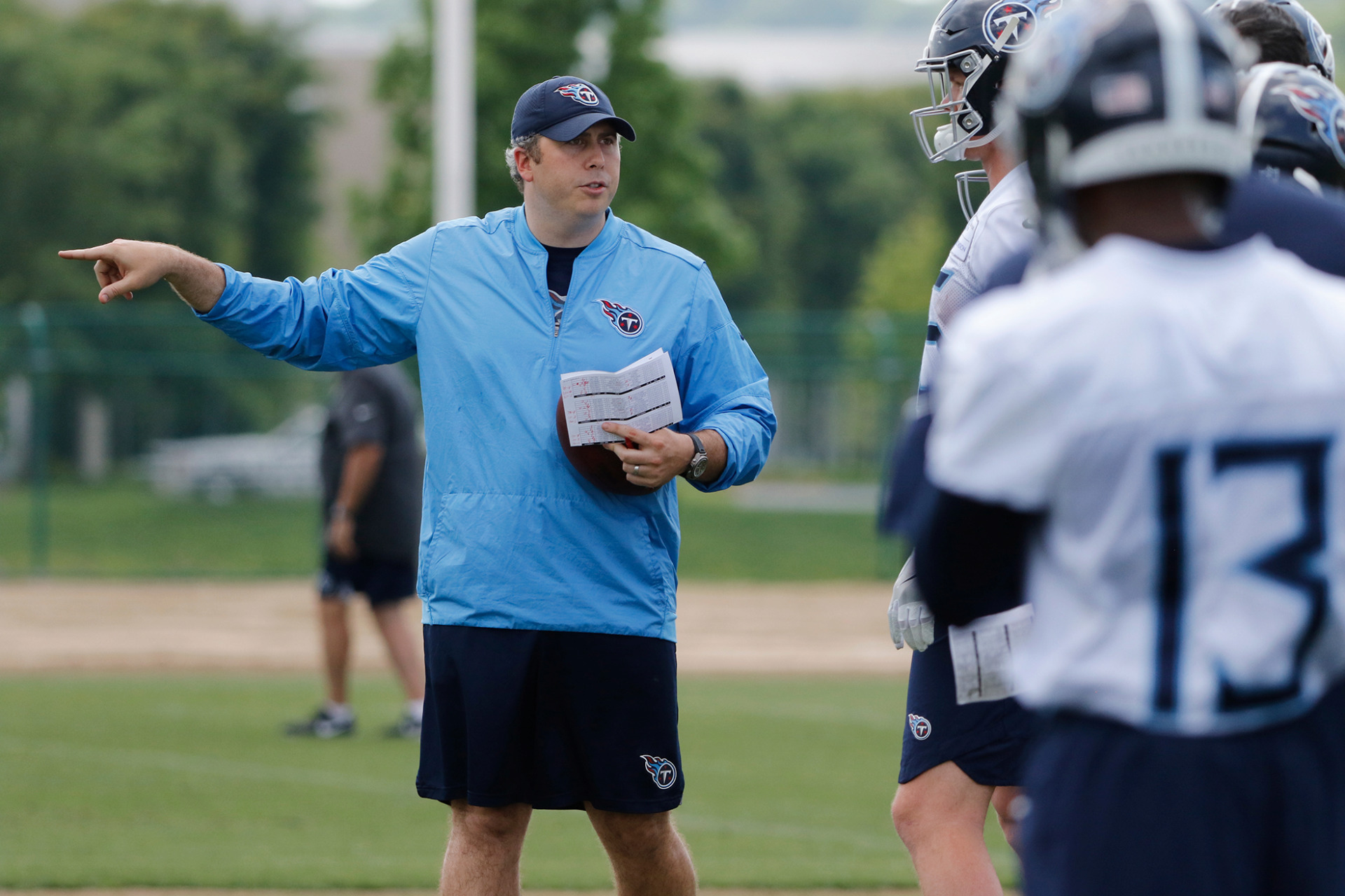 """<strong>Arthur Smith has never been a play-caller before, but is confident in his ability to step in and do the job. """"You've got to start somewhere,"""" he said.</strong> (Courtesy of Tennessee Titans)"""